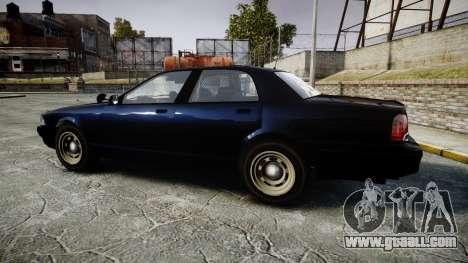 GTA V Vapid Cruiser Police Unmarked [ELS] Slick for GTA 4 left view