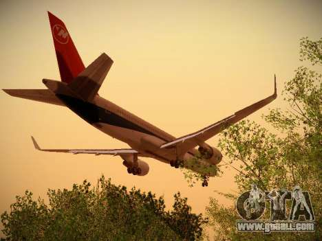 Boeing 757-251 Northwest Airlines for GTA San Andreas interior