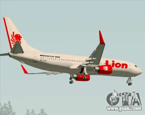 Boeing 737-800 Lion Air for GTA San Andreas back view