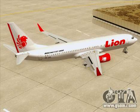 Boeing 737-800 Lion Air for GTA San Andreas interior
