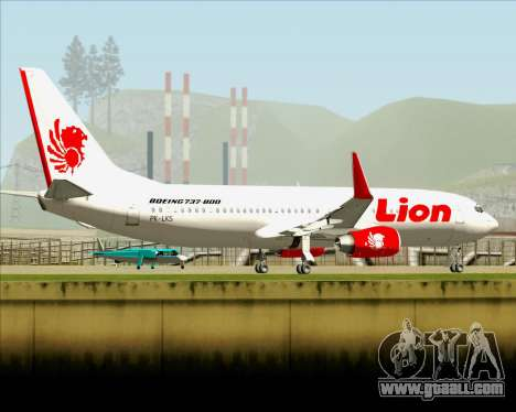 Boeing 737-800 Lion Air for GTA San Andreas upper view