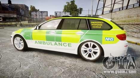 BMW 530d F11 Ambulance [ELS] for GTA 4 left view