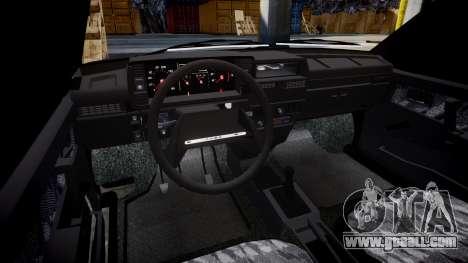 VAZ-2109 runoff for GTA 4 inner view