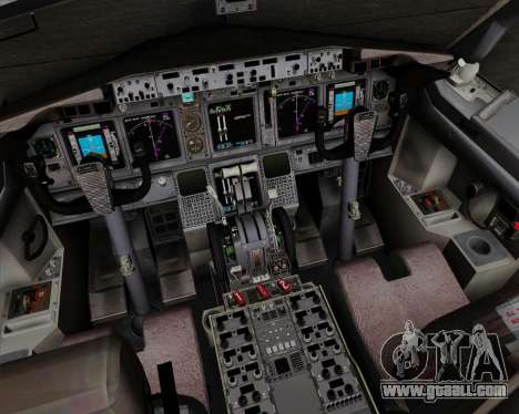 Boeing 737-800 World Travel Airlines (WTA) for GTA San Andreas interior