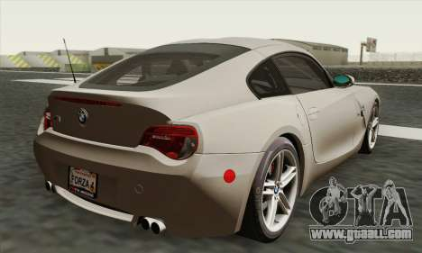 BMW Z4M Coupe 2008 Stock for GTA San Andreas left view