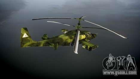 Ka-50 Black shark for GTA 4 back left view
