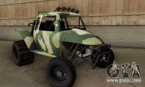 Military Buggy for GTA San Andreas back left view