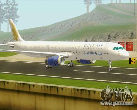 Airbus A321-200 Gulf Air for GTA San Andreas back left view