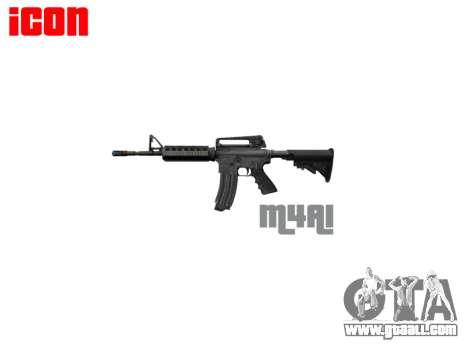 Automatic M4A1 carbine for GTA 4 third screenshot
