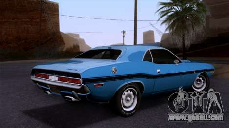 Dodge Challenger 426 Hemi (JS23) 1970 (HQLM) for GTA San Andreas left view