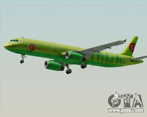 Airbus A321-200 S7 - Siberia Airlines for GTA San Andreas bottom view