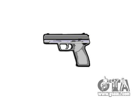 Pistol Taurus 24-7 black icon3 for GTA 4 third screenshot