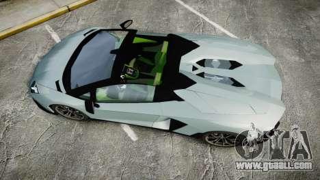 Lamborghini Aventador 50th Anniversary Roadster for GTA 4 right view