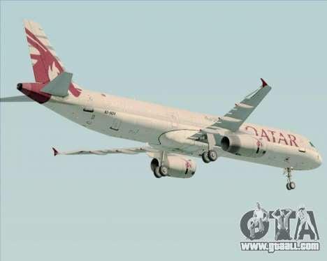 Airbus A321-200 Qatar Airways for GTA San Andreas back view