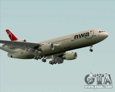McDonnell Douglas DC-10-30 Northwest Airlines for GTA San Andreas upper view