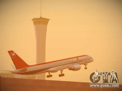 Boeing 757-251 Northwest Airlines for GTA San Andreas upper view