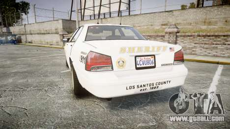 GTA V Vapid Cruiser LSS White [ELS] Slicktop for GTA 4 back left view
