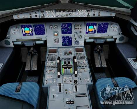 Airbus A321-200 Scandinavian Airlines System for GTA San Andreas interior
