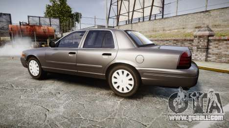 Ford Crown Victoria Unmarked Police [ELS] for GTA 4 left view