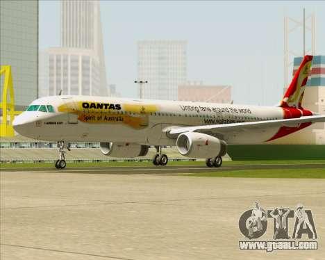 Airbus A321-200 Qantas (Wallabies Livery) for GTA San Andreas back left view