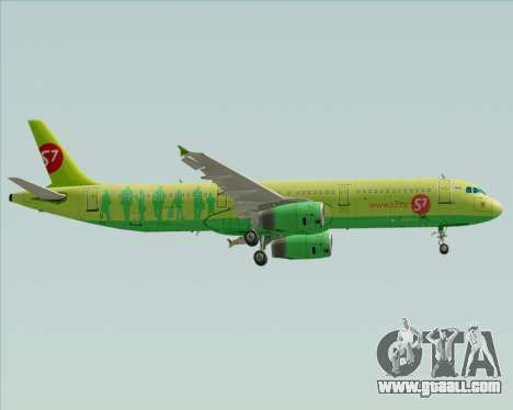 Airbus A321-200 S7 - Siberia Airlines for GTA San Andreas back left view