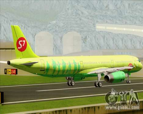 Airbus A321-200 S7 - Siberia Airlines for GTA San Andreas back view