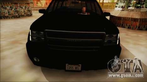 GTA 5 FIB Granger for GTA San Andreas back left view