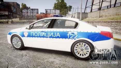 Peugeot 508 Republic of Srpska [ELS] for GTA 4 left view