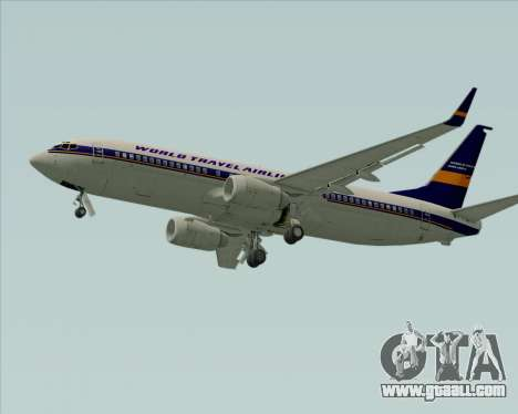 Boeing 737-800 World Travel Airlines (WTA) for GTA San Andreas back view