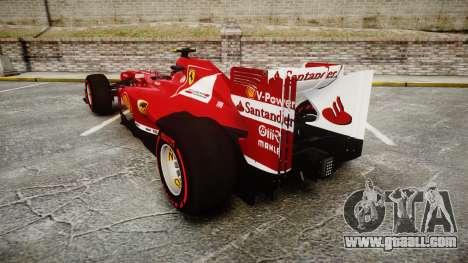 Ferrari F138 v2.0 [RIV] Massa TSSD for GTA 4 back left view