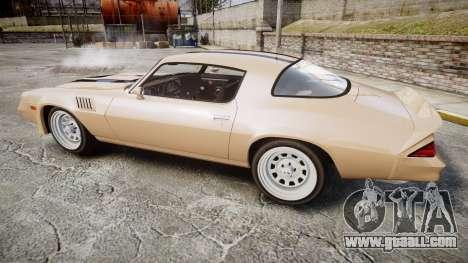 Chevrolet Camaro Z28 1979 for GTA 4 left view