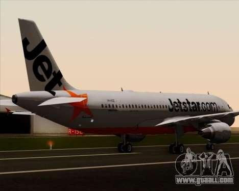 Airbus A320-200 Jetstar Airways for GTA San Andreas wheels