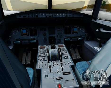 Airbus A320-200 Jetstar Airways for GTA San Andreas interior