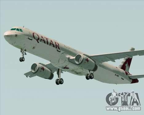 Airbus A321-200 Qatar Airways for GTA San Andreas right view