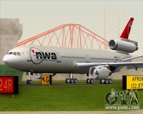 McDonnell Douglas DC-10-30 Northwest Airlines for GTA San Andreas inner view