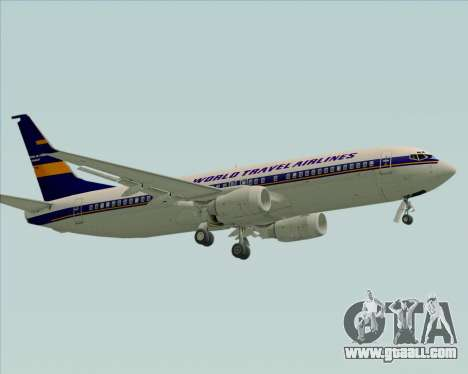 Boeing 737-800 World Travel Airlines (WTA) for GTA San Andreas left view