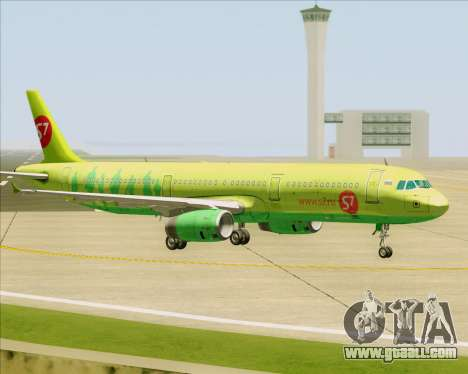 Airbus A321-200 S7 - Siberia Airlines for GTA San Andreas upper view