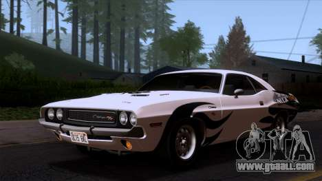 Dodge Challenger 426 Hemi (JS23) 1970 (HQLM) for GTA San Andreas side view