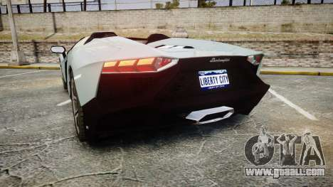Lamborghini Aventador 50th Anniversary Roadster for GTA 4 back left view