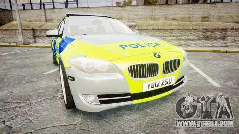 BMW 530d F11 Metropolitan Police [ELS] for GTA 4