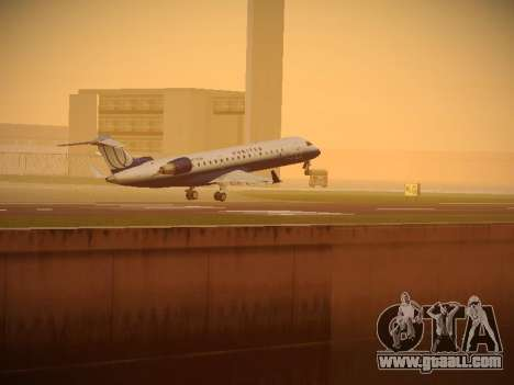 Bombardier CRJ-700 United Express for GTA San Andreas bottom view