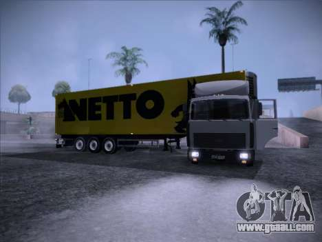 Trailer NETTO for GTA San Andreas right view