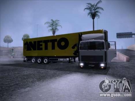 Trailer NETTO for GTA San Andreas right view