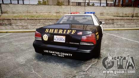 GTA V Vapid Cruiser LSS Black [ELS] for GTA 4 back left view
