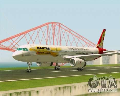 Airbus A321-200 Qantas (Wallabies Livery) for GTA San Andreas inner view