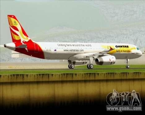 Airbus A321-200 Qantas (Wallabies Livery) for GTA San Andreas