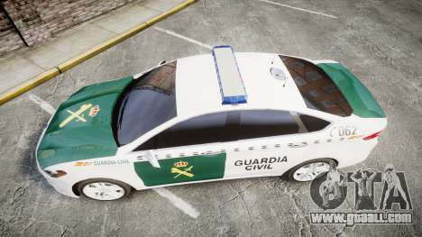 Ford Mondeo 2014 Guardia Civil Cops [ELS] for GTA 4 right view