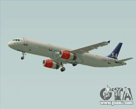 Airbus A321-200 Scandinavian Airlines System for GTA San Andreas right view