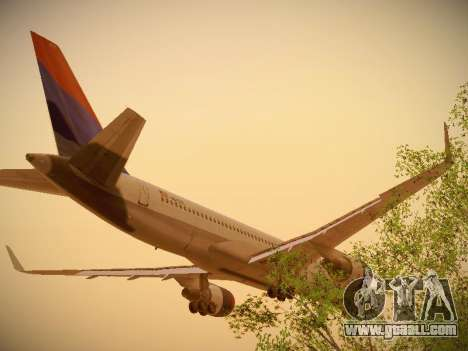 Boeing 757-232 Delta Airlines for GTA San Andreas back view