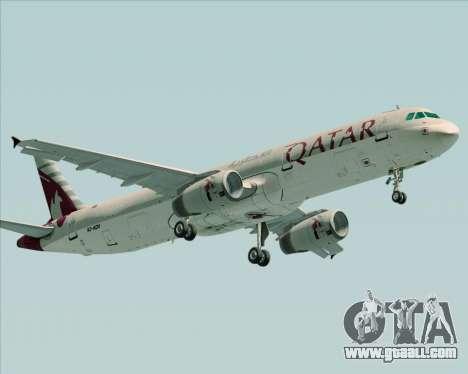 Airbus A321-200 Qatar Airways for GTA San Andreas left view